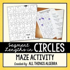 Arc Lengths and Area of Sectors of Circles Mazes | Maze and Circles