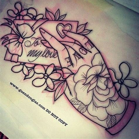 love letter traditional hand tattoo hand tattoos love