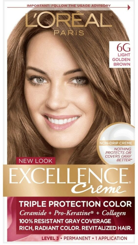 L\u002639;Oreal Excellence Permanent Hair Color Creme Light Golden Brown Warmer 1 Each  eBay