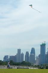 Kite flying at the Marina Barrage