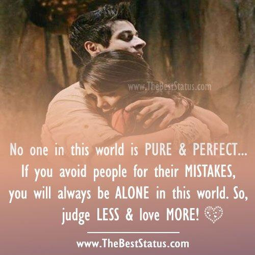 No One In This World Is Pure Perfectâ If You Avoid People For