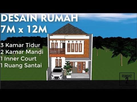 ide desain rumah minimalis 7 x 12m 2 lantai, video rumah