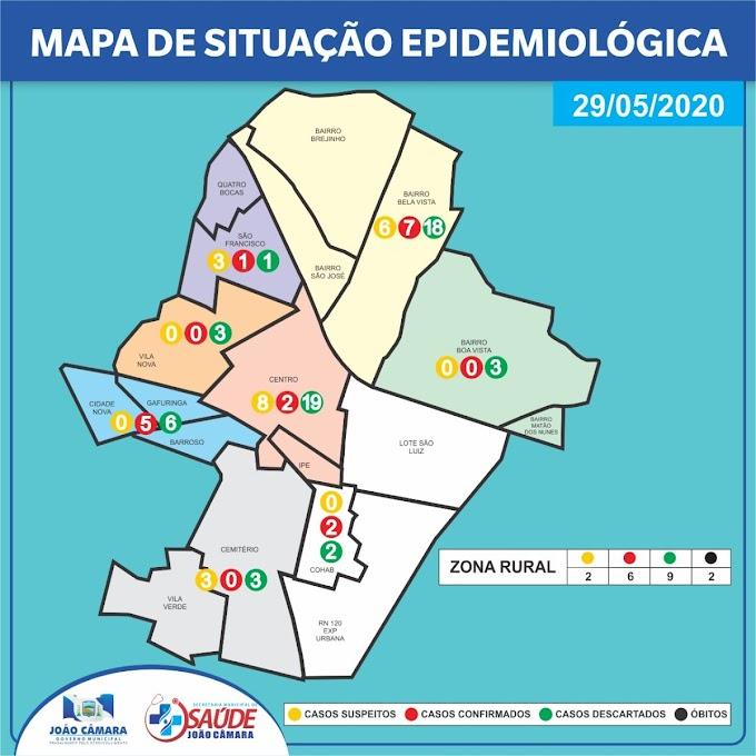 João Câmara: Prefeitura divulga mapa de situação Epidemiológica no município