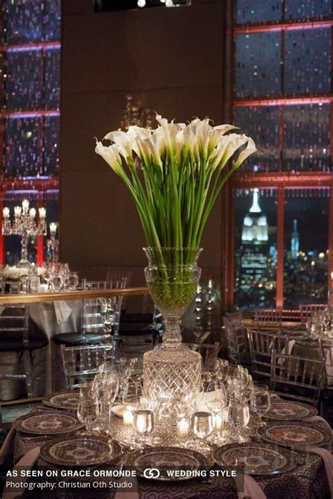 calla lily centerpiece idea for wedding reception