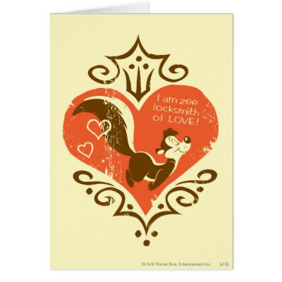 Pepe I Am Zee Locksmith of Love - Funny Valentine's Day Card