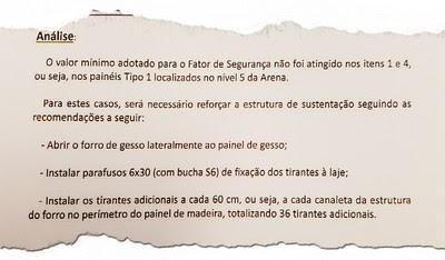 doc acidente teto arena 4 (Foto: Reprodução)