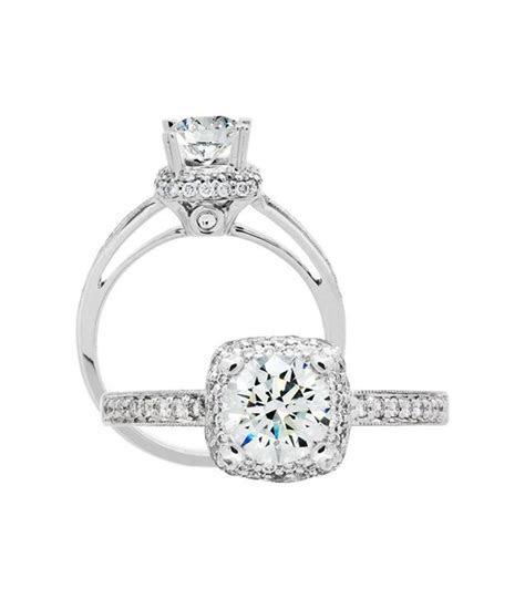 Round Brilliant 1.06Ct Diamond Ring 18Kt White Gold   Amoro