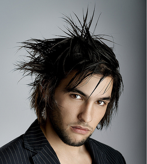 Long sexy razor shag men hairstyle with long bangs and spiky hair finish.PNG