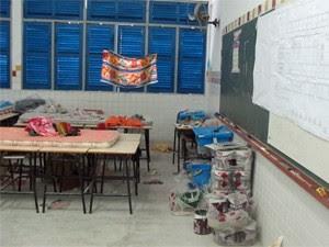 A escola estadual Mota Trigueiros, em Alagoas, foi uma das 163 escolas interditadas para reforma em 2012 (Foto: Vanessa Fajardo/G1)