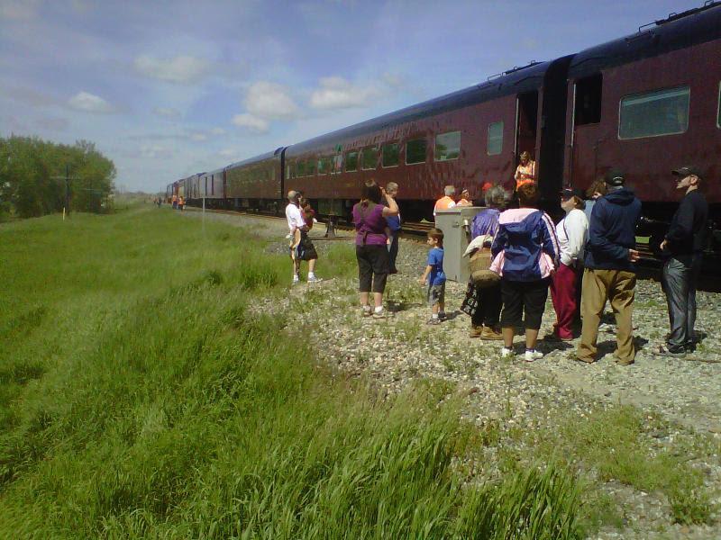 CP train in Chaplin SK