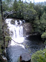 Waterfall near the Cradle Mountain visitors centre