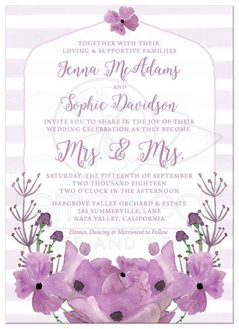 Same Sex Lesbian Wedding Invitations   Mrs. & Mrs. Lovely