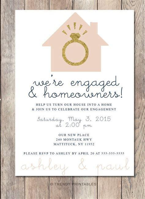 Engagement Party Invitation, Housewarming Party Invitation