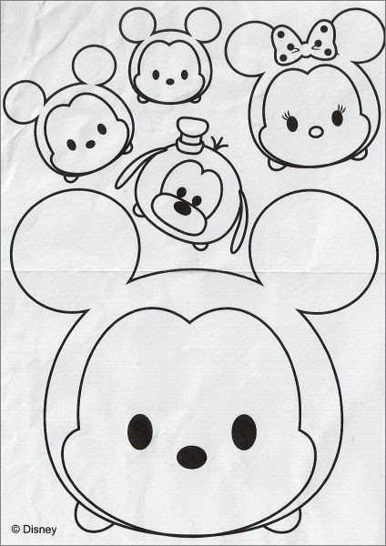 Tsum Tsum Disney 8 Figure Charms Series 1 Tomy Dessins