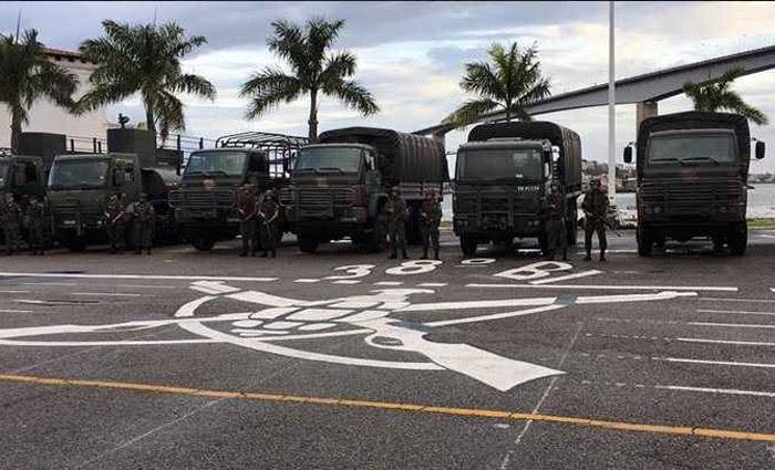 O governo federal enviou militares do Exército na segunda para reforçar a segurança no Espírito Santo. Foto: Governo do Estado do Espírito Santo/Divulgação