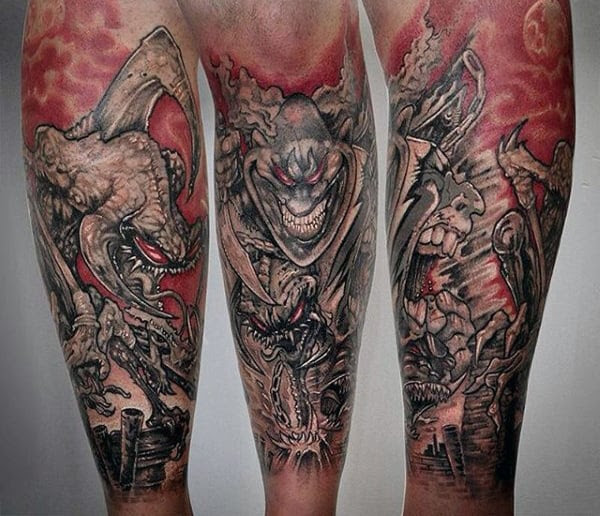 40 Spawn Tattoo Designs For Men Antihero Ink Ideas