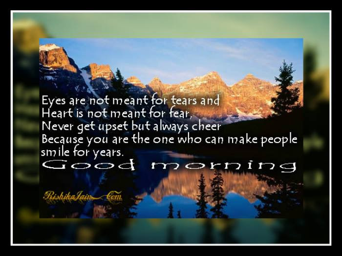 Remain Cheerful Wish You A Good Morning Inspirational Quotes