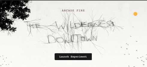 Google Chrome, Arcade Fire y HTML5 experimento