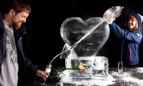 Couples Ice Sculpture Experience and Wedding Ice Sculptures.