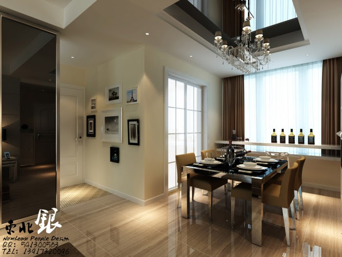 dining room double height ceiling