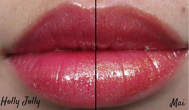 Darling Girl Cosmetics Holly Jolly vs Mai Holo Gloss