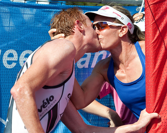 David Dellow, Caroline Steffen - 2011 Noosa Triathlon, Noosa Heads, Sunshine Coast, Queensland, Australia; 30 October 2011.