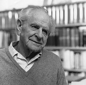 Karl Popper in 1990.