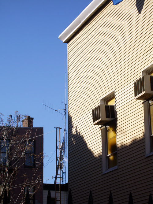 ladder in space, Greenpoint, Brooklyn