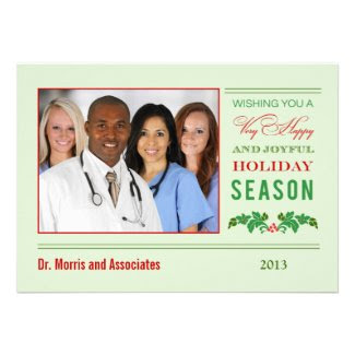 Elegant Mistletoe Corporate Christmas Card