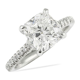 2.25 CT CUSHION CUT DIAMOND ENGAGEMENT RING