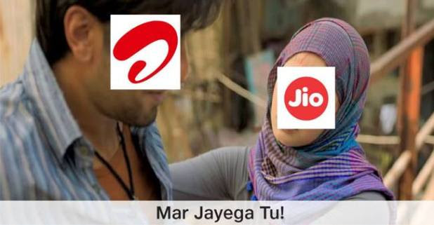 Tweeps Also Join Hands When Reliance Jio Made Fun Of Other Competitors On Valentine's Day