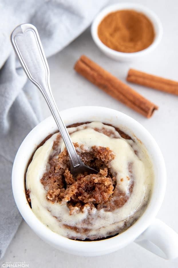 Healthy Cinnamon Roll Mug Cake Recipe Not Enough Cinnamon