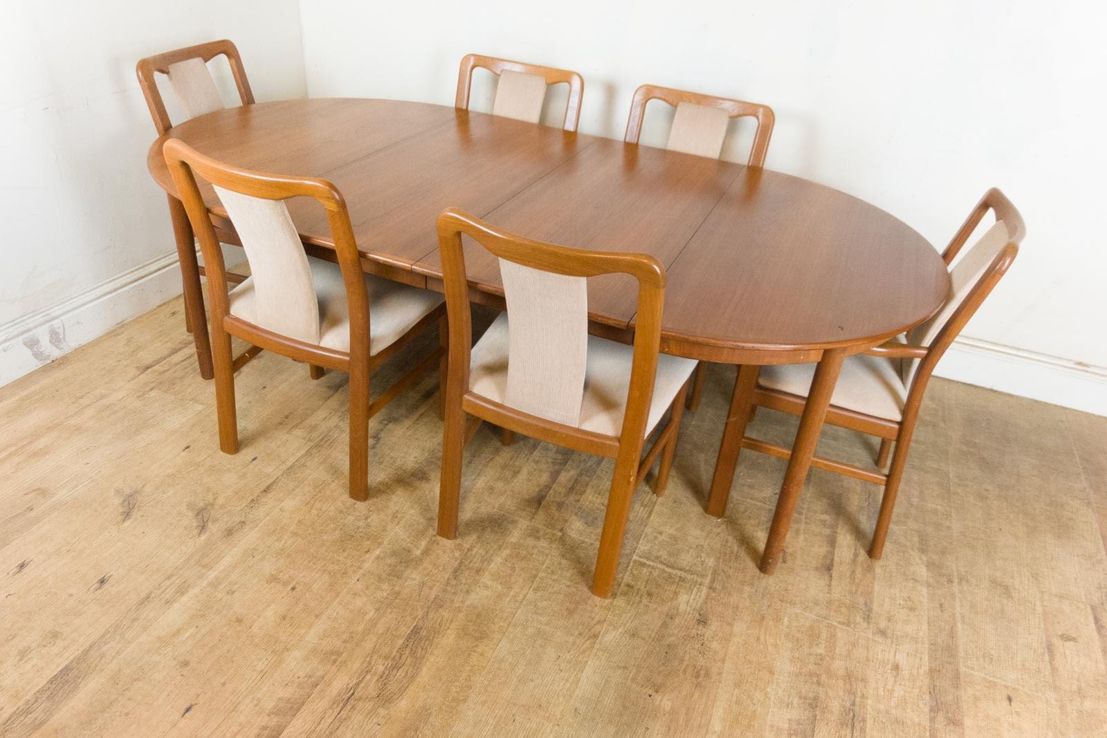 Vintage Retro Danish Extending Dining Table and 6 Chairs  Bernhard Pederson  eBay