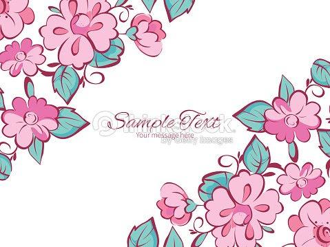 Moldura Floral Rosa Para Convite