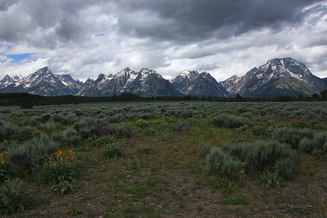 Tetons on a Cloudy Day