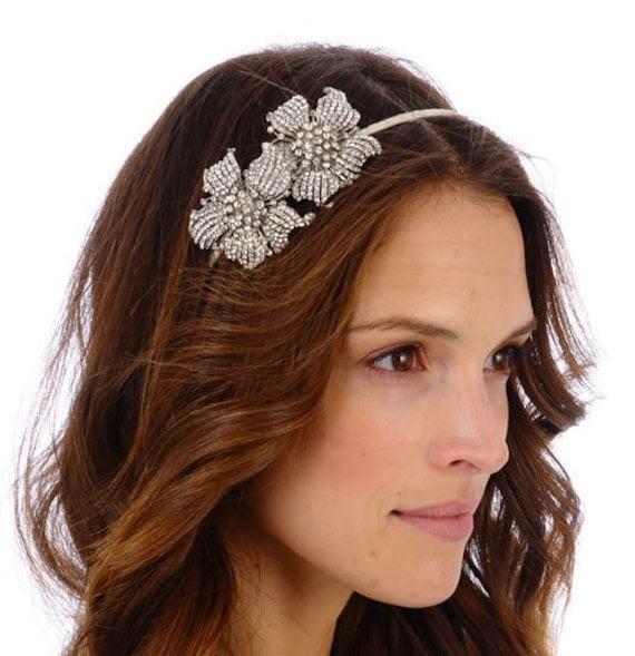 082 -Callie Headband- Encrusted, Wedding, Headpiece, Crystal, Rhinestone, Bridal