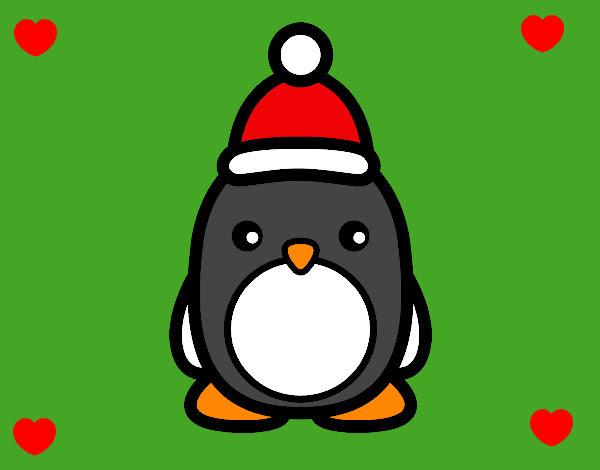 Dibujo De Pingüino Navideño Pintado Por Kunkai En Dibujosnet El Día