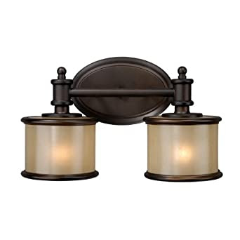 Vaxcel USA CRVLU002NB Carlisle 2 Light Bathroom Vanity Lighting