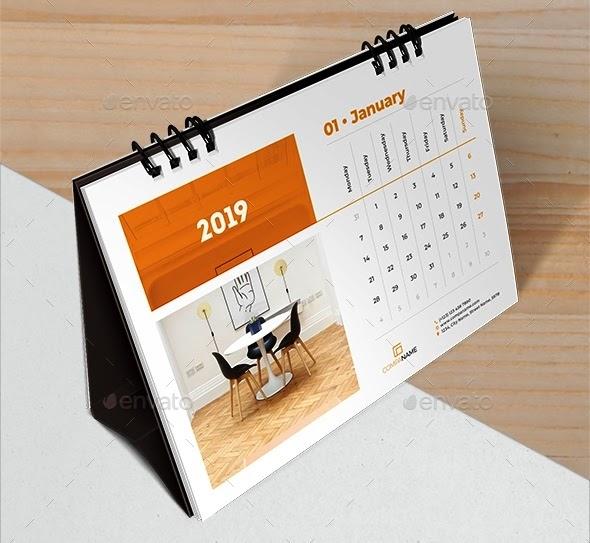 56+ Desain Kalender Meja Psd