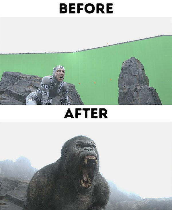13 - 30 before and after special effects scenes