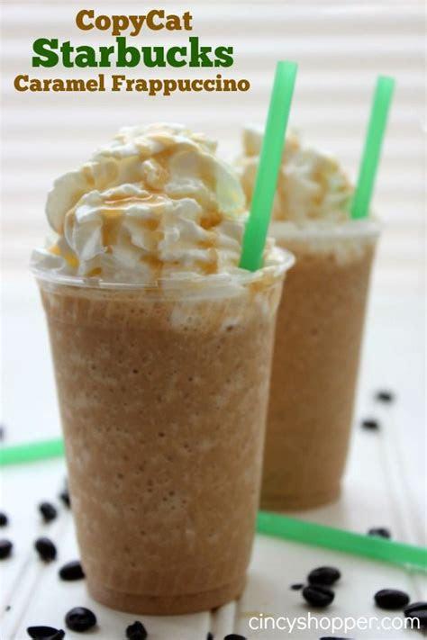 copycat starbucks caramel frappuccino recipe diy ideas
