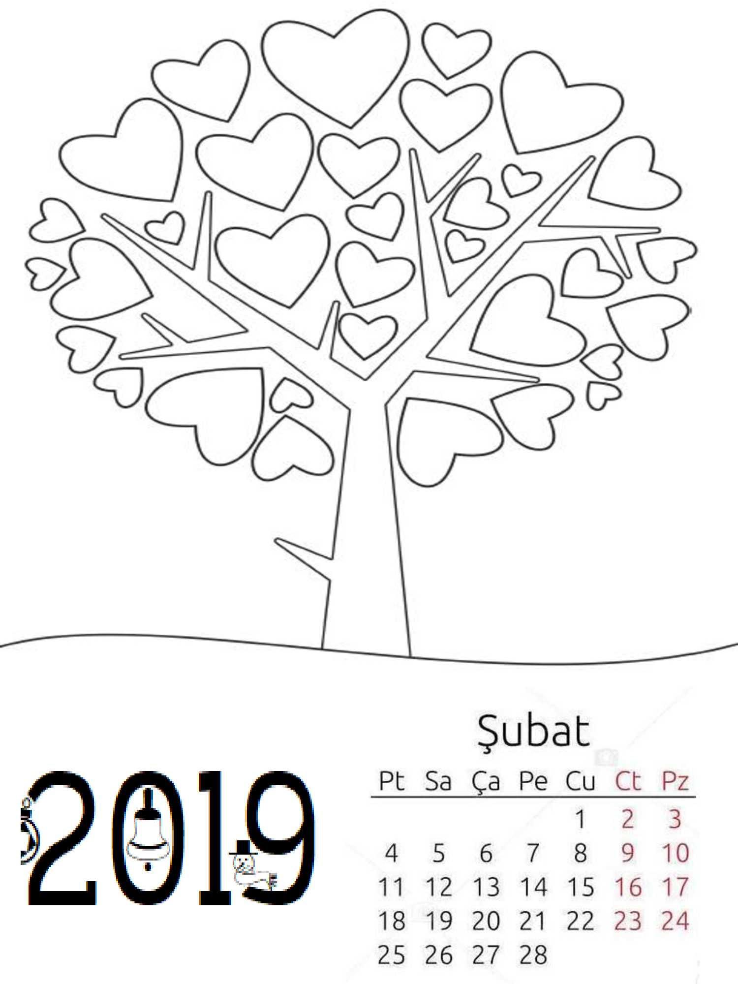 Okul Oncesi 2019 Boyama Sayfa Takvimi 6 Okul öncesi Etkinlik
