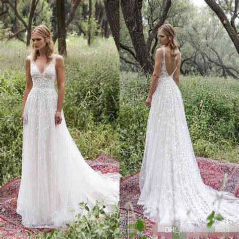 Discount Boho 2017 New Country Style Wedding Dresses Sexy