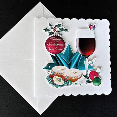 Christmas Cheers Handmade Card   Husband   Decorque Cards