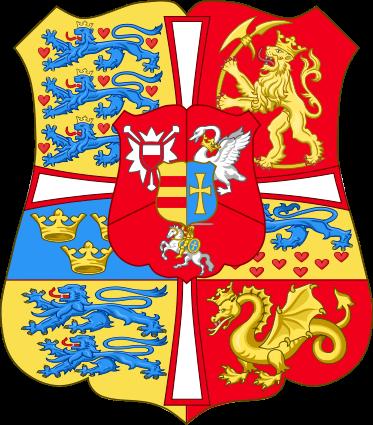 Archivo:. Brazos reales de Noruega y Dinamarca (1699-1819) svg