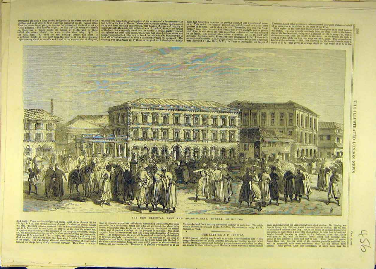 Image result for 1865-BOMBAY SHARE MARKET AND NEW ORIENTAL BANK