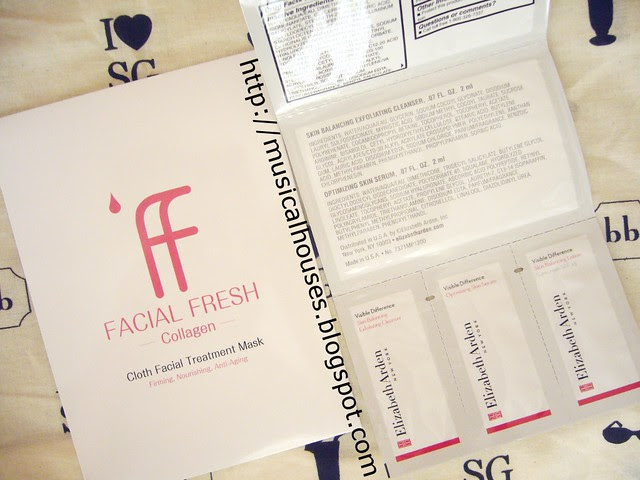 bella box august facial fresh collagen cloth treatment mask