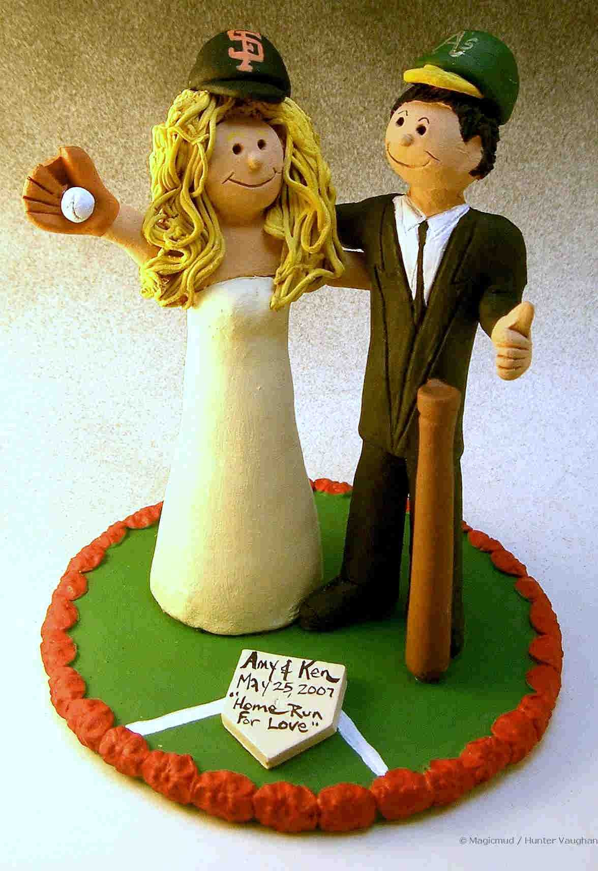 wedding cake toppers: Baseball Wedding Cake Toppers
