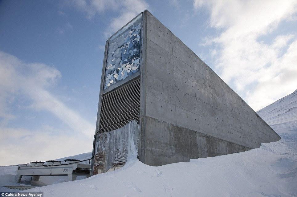 Alimentos arca: Entrada para o Global Seed Vault, na Noruega, que é o lar de mais de dois bilhões de sementes do mundo