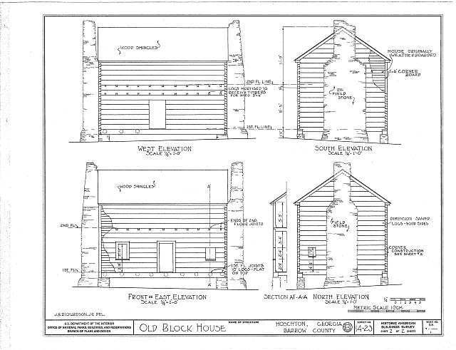 HABS GA,7-____,1- (sheet 2 of 2) - Cochran Log House, Hoschton, Jackson County, GA